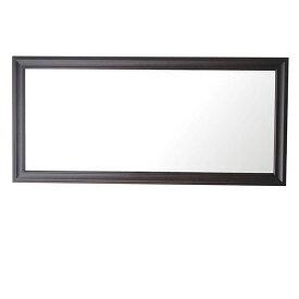 【送料無料】クラスウォールミラー W49×107cm 長方形壁掛け ダークブラウン