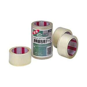 【送料無料】ニットー 透明梱包用テープ カッターなし 1パック/3巻 1箱(20パック)