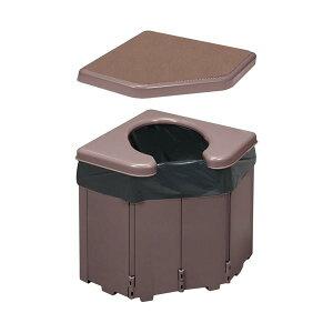 (まとめ)サンコー ポータブルコーナートイレ R-46(×3セット)