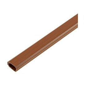 【送料無料】(まとめ)ELPA 切れるモール ミニ 1m テープ付 ブラウン MH-CT01H(BR)1本【×50セット】