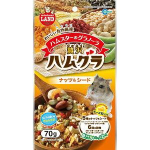【送料無料】(まとめ)贅沢ハムグラ ナッツ&シード 70g(ペット用品)【×12セット】