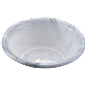 【送料無料】(まとめ) 風呂桶/湯桶 【グレー】 直径27×高さ10cm大理石調 洗面器 バス用品 バスカTR 【×30個セット】