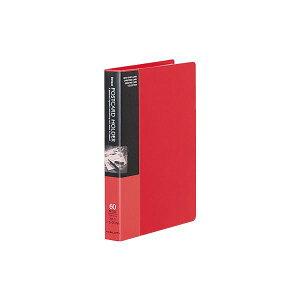 【送料無料】コクヨ ポストカードホルダー(固定式)A6タテ 30枚収容 赤 ハセ-20NR 1セット(6冊)
