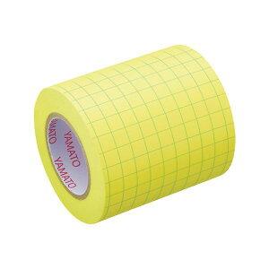 【送料無料】(まとめ)ヤマト メモック ロールテープ(ノート)蛍光紙 方眼入 つめかえ用 50mm幅 レモン NRK-50H-LH 1巻 【×10セット】