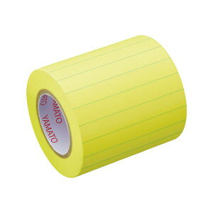 【送料無料】(まとめ)ヤマト メモック ロールテープ(ノート)蛍光紙 罫線入 つめかえ用 50mm幅 レモン NRK-50H-LK 1巻 【×30セット】