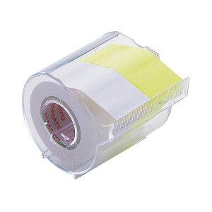 【送料無料】(まとめ) ヤマト メモック ロールテープ カッター付 25mm幅 白&レモン R-25CH-WL 1個 【×30セット】