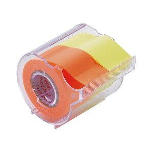 【送料無料】(まとめ) ヤマト メモック ロールテープ カッター付 25mm幅 レモン&オレンジ NORK-25CH-6C 1個 【×30セット】