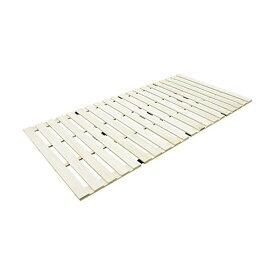 【送料無料】すのこベッド 桐 すのこマット 折りたたみ 4つ折りタイプ シングル(幅100cm)
