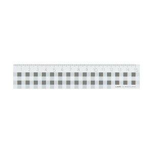 【送料無料】(まとめ) ライオン事務器 ギンガムチェック定規15cm ブラック C-5 1本 【×30セット】