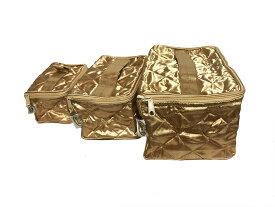 【送料無料】NaRaYa ナラヤ コスメポーチ NBS37 ゴールド GOLD 化粧品入れ ポーチ 大きさ3種類 バニティケース 化粧品 ポーチ おしゃれ CA御用達 タイ ブランド L M S サイズ 3点