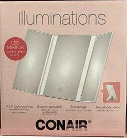 【送料無料】CONAIR イルミネーションミラー LEDライト付き メイク 化粧 鏡 折り畳み式