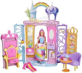 【送料無料】バービー ドリームトピア レインボーのおしろ FRB15 バービー人形 女の子 おもちゃ