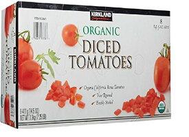 KIRKLAND (カークランド) シグネチャー オーガニック ダイストマト 411g×8缶 トマト缶 コストコ カークランド