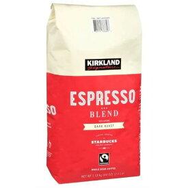 カークランドシグネチャー スターバックス エスプレッソ ブレンド コーヒー(豆)ダークロースト 1.13kg Kirkland Signature STARBUCKS Espresso Blend Coffee (Whole Bean) スタバ