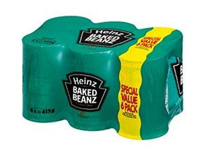 ハインツ ベイクド ビーンズ 415g × 6缶 HEINZ BAKED BEANZ 415G × 6 イギリス 白 いんげん豆 トマトペースト お得 パック