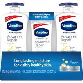 ヴァセリン アドバンスドリペア ボディローション 3本セット (600ml x 2本 295ml x 1本) Vaseline Advanced Repair Body Lotion 3pack