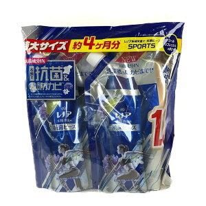 レノア 本格消臭抗菌ビーズ 詰替え用 760ml×2 レノアスポーツ スポーツ Lenor Anti-Backterial Cool Refresh 柔軟剤 洗濯 消臭