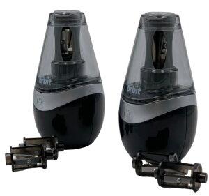 ウェストコット 電池式 鉛筆削り 2個セット (チタンコート替刃4個付属) ブラック I Point Battery Sharpener 2pc 人気 使いやすい
