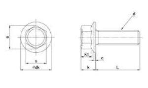 フランジボルト(2種) 材質(ステンレス) 規格( 8 X 60) 入数(70) 04163666-001【04163666-001】[4547733054895]