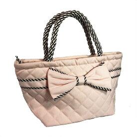【送料無料】NaRaYa ナラヤ リボンバッグ コットンバッグ NCN-52D/M レディース 女性 婦人 マザーバッグ かわいい おしゃれ CA御用達 タイ ブランド トートバッグ 船形 ライトピンク Pink