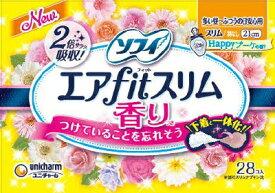【送料無料】ソフィエアフィットスリムハッピーブーケの香り210羽なし28枚日用品 フェミニンケア生理用品