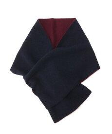 TAKEO KIKUCHI(タケオキクチ)カシミヤ配色ミニマフラー