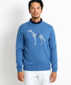 adabat(Men)(アダバット(メンズ))サルーキデザインクルーネックセーター