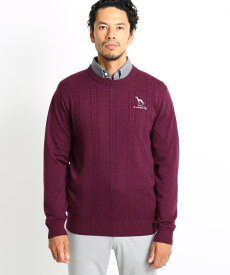 adabat(Men)(アダバット(メンズ))ケーブル編みクルーネックセーター