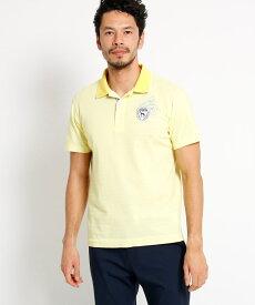 adabat(Men)(アダバット(メンズ))【吸水速乾】【UVカット】シャドーボーダー 半袖ポロシャツ  メンズ