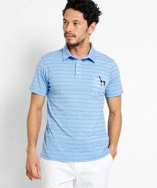 adabat(Men)(アダバット(メンズ))【吸水速乾】胸ポケット付き 半袖ボーダーポロシャツ メンズ
