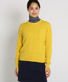 adabat(Ladies)(アダバット(レディース))ケーブル編みクルーネックセーター