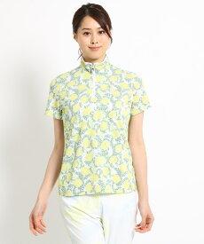adabat(Ladies)(アダバット(レディース))【吸水速乾】ボタニカル半袖ポロシャツ レディース