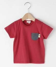 SHOO・LA・RUE/Kids(シューラルー /キッズ)【80-130cm】配色ステッチポケットTシャツ