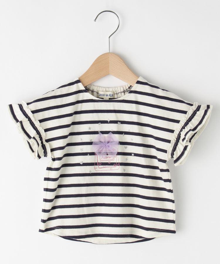 SHOO・LA・RUE/Kids(シューラルー /キッズ)袖フリル香水チュールTシャツ
