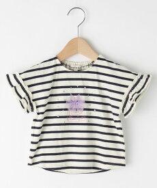 SHOO・LA・RUE/Kids(シューラルー /キッズ)【80-130cm】袖フリル香水チュールTシャツ