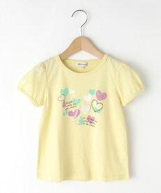 SHOO・LA・RUE/Kids(シューラルー /キッズ)綿天竺ぼかしハート半袖パフTシャツ