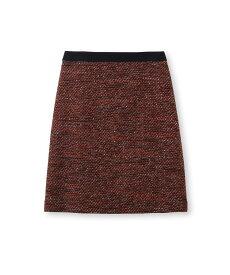 INDIVI(インディヴィ)[L]ラメ混ツイードスカート