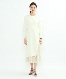 INDIVI(インディヴィ)[L]ニットワンピース×布帛スカート セットアップ
