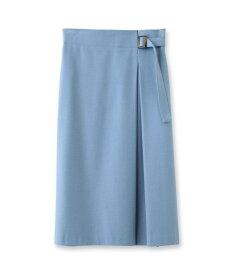 INDIVI(インディヴィ)[S]【マシンウォッシュ】パウダリーツイルラップ風スカート