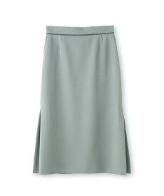 INDIVI(インディヴィ)[L]【WEB限定/ハンドウォッシュ】マットクロス切り替えストレートスカート