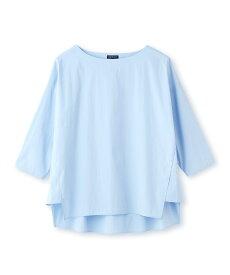 INDIVI(インディヴィ)[L]【ハンドウォッシュ】ボディシェルブロードシャツ