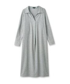INDIVI(インディヴィ)「L」コットンツイルシャツワンピース