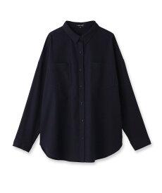 INDIVI(インディヴィ)「L」コットンツイルシャツ