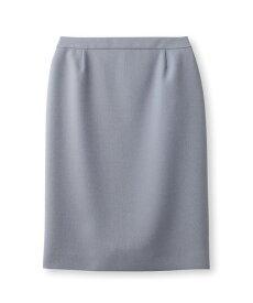 INDIVI(インディヴィ)【マシンウォッシュ】ポリツイルタイトスカート