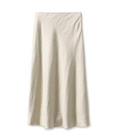 INDIVI(インディヴィ)[S]【ハンドウォッシュ】ペールサテンマキシスカート