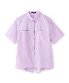 INDIVI V.A.I.(インディヴィ バイ)【マシンウォッシュ】ポケット半袖シャツ