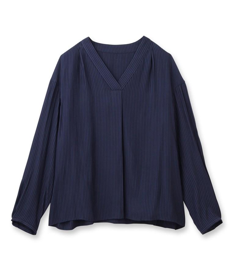 UNTITLED(アンタイトル)[L]【洗える】ドビーストライプシャツ