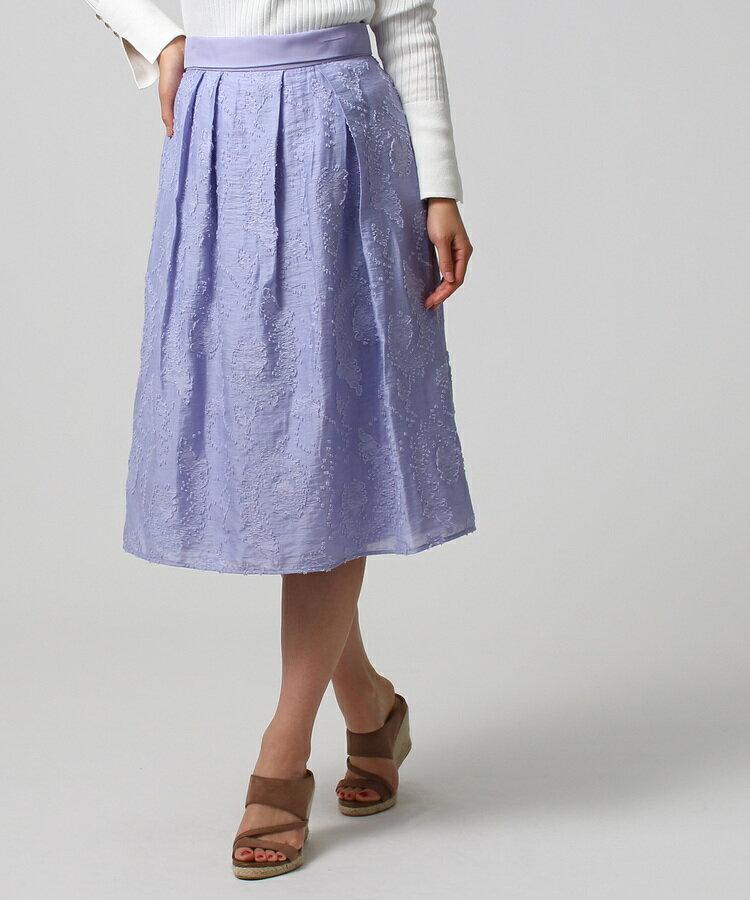 UNTITLED(アンタイトル)[L]【洗える】ペイズリージャカードスカート