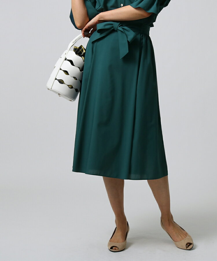 UNTITLED(アンタイトル)【洗える】[L]ベルテッドフレアスカート
