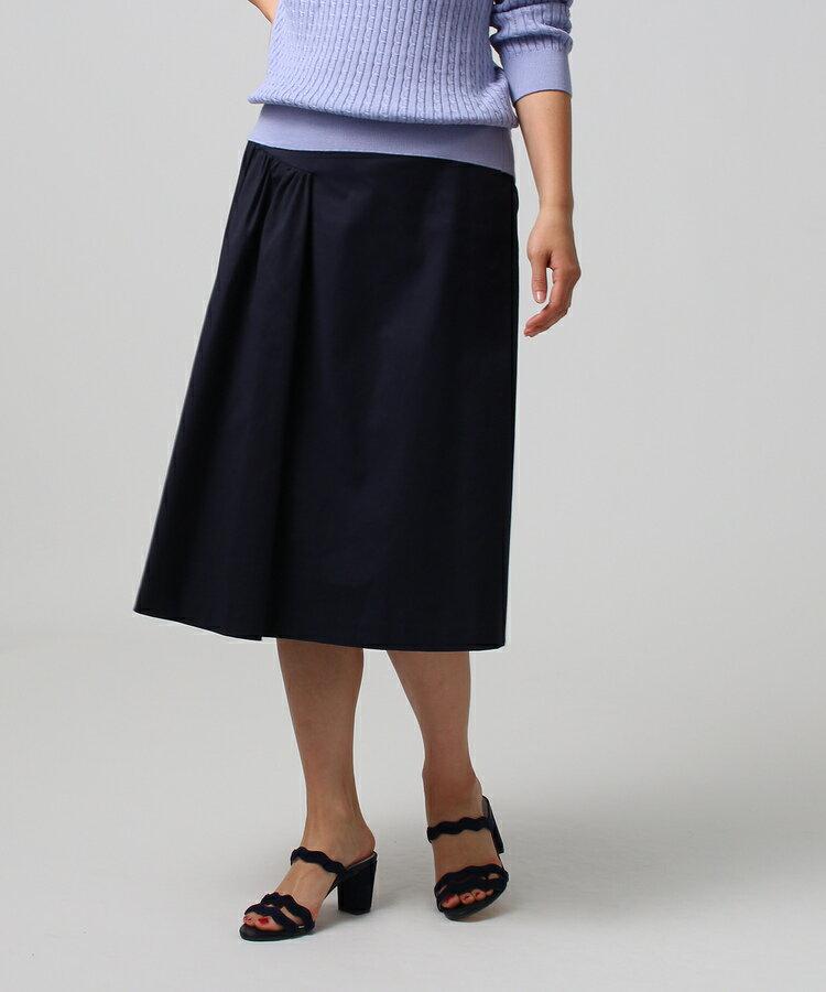 UNTITLED(アンタイトル)[L]【洗える】マリーニグリーンストレッチスカート